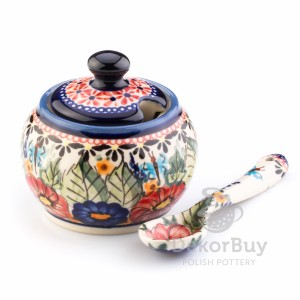 Sugar bowl 0,3 l. + spoon