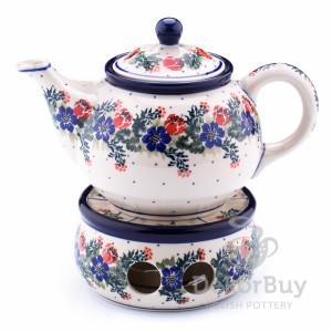 Teapot 0,9 l. + Heater 13 cm.