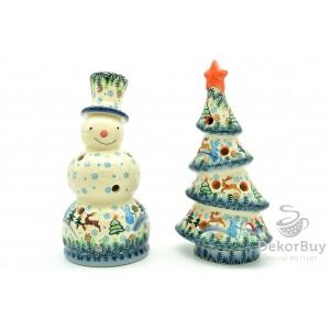 Snowman + Christmas tree