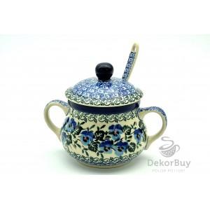 Sugar bowl 0,3 l. + spoon
